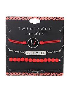 Twenty One Pilots Clique ID Bracelet Set,