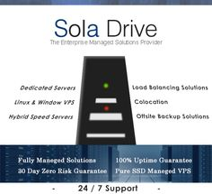 SolaDrive provides a variety of fully managed solutions to meet all the types of business needs. A team is there having US certified technicians available 24*7 to handle all the requests and offers a personalized support. Web hosting plans offered are backed with 30 Days money back guarantee. With Pure SSD Virtual Private Server Plans, Fast SSD VPS is offered so client has a choice between two.