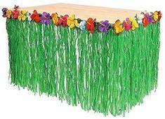 Tytroy Hawaiian Luau Hibiscus Green Table Skirt 9Ft Party Toy by Tytroy: Amazon.es: Hogar