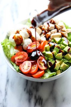 This recipe I found on Damn Delicious is so good guys. You have to try it. I am always on the hunt for great lunch ideas and this one is a keeper! Caprese Avocado Salad Yield: 2 servings Prep Time: 10