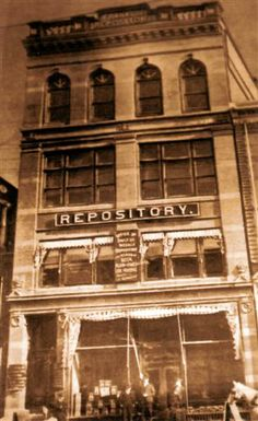 Repository on North Main Street in 1908