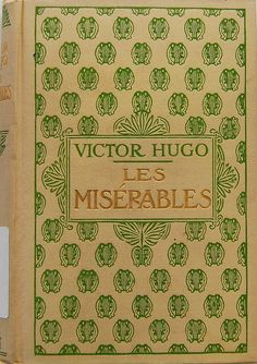 Cloth cover of Les misérables by Victor Hugo