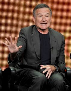 """Actor Robin Williams participates in """"The Crazy Ones"""" panel at the CBS Summer TCA on Monday, July 29, 2013, at the Beverly Hilton hotel in Beverly Hills, Calif."""
