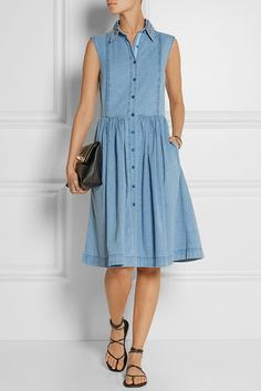 Preen Line | Alabama embroidered chambray shirt dress | NET-A-PORTER.COM