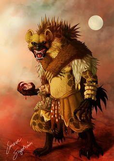 Gnoll God - the Hunter by fiszike