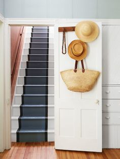 Painted farmhouse stairs