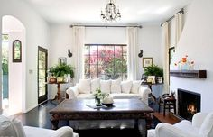 Julia Ormond's living room