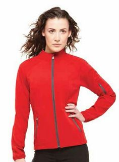 Stylish Fashionable Ladies Jacket Ladies Omni Lightweight Soft-Shell Jacket: Wind-resistant, water-resistant, stretch fabric for unrestricted movement. Highly breathable