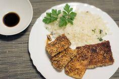 Arroz de Lima e Tofu Panado