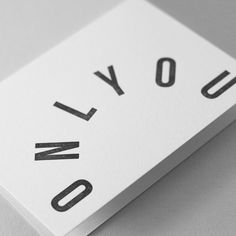 ONLY YOU → Letterpress greetings card designed and hand-printed by Jot Paper Co.