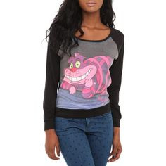 Disney Alice In Wonderland Cheshire Cat Pullover Top | Hot Topic ($9.97) found on Polyvore