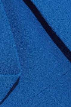 Roland Mouret - Burfield Wool-crepe Dress - Blue - UK