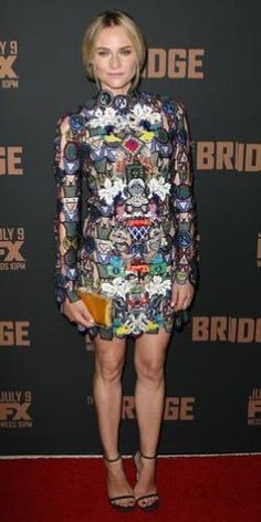 Diane Kruger just rocks in this Mary Katrantzou mini dress.
