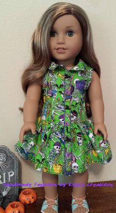 Spooky Halloween Dress by Kizzie Creations on Etsy