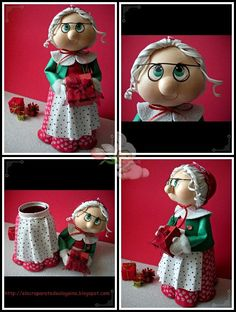 A WIDE VARIETY of dolls for all seasons on this site...very, very cute, and they are made from fun foam and clay...something for everyone on this site...so dang cute!:
