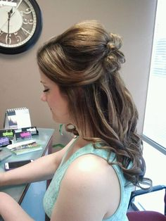 Updo by Ashley at the League City Salon. 281-338-6507 #wedding #hair #updo #curls #prom #leaguecity