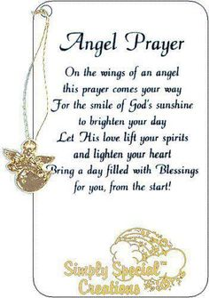 Beautiful thoughts .... Sending an angel prayer your way!