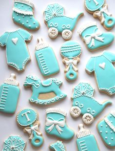 Tiffany inspired Baby Cookies