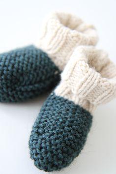 """les tricots de Granny - Les chaussons """"laine"""" création Granny©"""