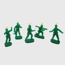 GREEN ARMY MEN MILITARY SOLDIERS CAMOUFLAGE CAMO MAN CANDLES FOR BIRTHDAY CAKES