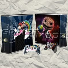 Sackboy Planet XBOX 360 Skin Set - Console with 2 Controllers