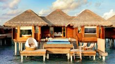 Villa exterior over water. Huvafen Fushi- Maldives Island