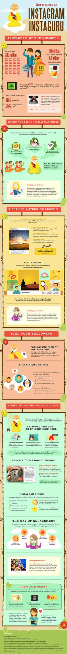 Want to become an Instagram guru? If you're using Instagram for business, improving your presence there should be a priority! Help IGers find your business with the tips on this infographic.