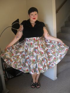 Newest Betty Le Bonbon skirt. This print is so freaking...
