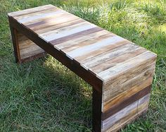 Reclaimed Pallet Wood Table or Bench - Farmhouse Coffee Table - Barnwood Table - Rustic Table - Upcycled Pallet Wood - Painted Pallet Wood