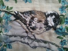 Coal Tit - Laura Edgar #textile art #embroidery Lovely textures created with the stitching.