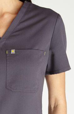 Womens Cabral Scrub Top-Charcoal Cna Nurse, Top Show, Scrub Tops, Scrubs, Nursing, Dental, Chef Jackets, Charcoal, Minimal