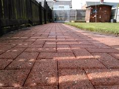high pressure block paving clean after