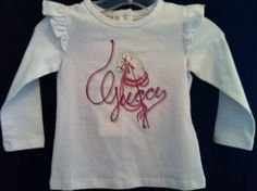 Gucci Infant Girls Kids Long Sleeve White Carousel Graphic T Shirt 9 12 Months   eBay