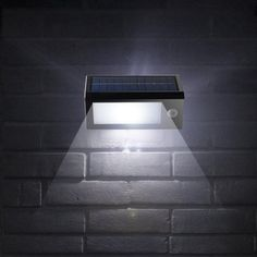"Wireless Solar POWERED Outdoor PIR Motion Sensor Waterproof LED Light ""click on the pic and Order"""