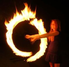 Anybody for fire hoop twirling in the library?! :D