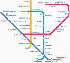 Mapa del metro de Lisboa 2017