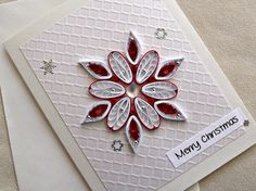handmade paper quilled Christmas card  Merry by sayitwithblooms