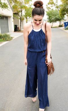 Blogger Claire of Beautyandabargain.com shows us how to style this Charlotte Russe jumpsuit! See more of her #ootd on her blog post:  J U M P S U I T . - Beauty and a Bargain