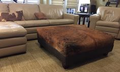 """The completed 42""""x42"""" ottoman. Total investment was $375. Most I have seen for sale this size run $1200- $1600."""