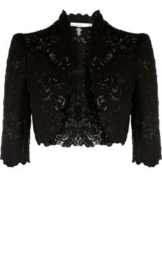 Karen Millen Beautiful cotton lace jacket black