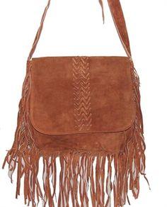 Fringe Suede Brown Messenger Bag