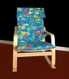 IKEA POÄNG Cushion Slipcover  Delphine Bouquet Blue by RockinCushions