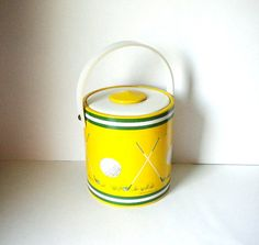 Vintage Golf Theme Large Vinyl Ice Bucket by by BeppieandEido