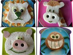 Day 6 of Creation Snack Idea cute sandwiches for kids