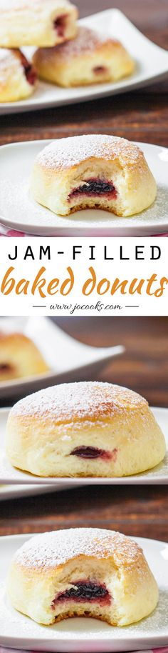 Baked Jam Filled Donuts