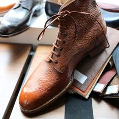 MTO boot with grain calf by laszlo Vass. Pure Craftmanship.