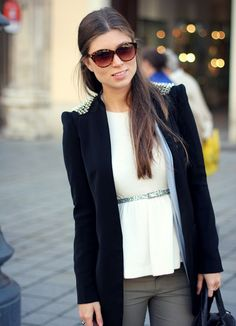 studded blazer for fall