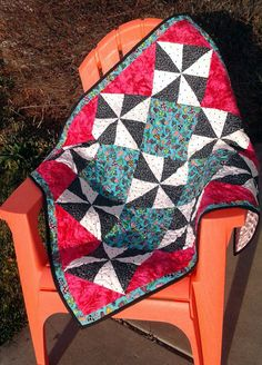 Homemade Patchwork Baby Quilt Minky Backing by Mountainquiltworks