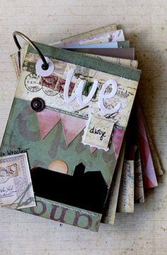 """Proporczyki na okładce albumu wykonane z papieru """"Czerwony latawiec"""" Magazine Rack, Lord, Scrapbooking, Storage, Vintage, Home Decor, Paper, Store, Scrapbook"""