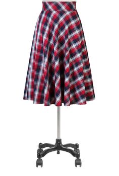 Retro Fifties Style Skirts, Classic Check Full Skirts Women's black skirts and dresses - Cotton, Long, Plus Size, A-line, Pencil - Womens designer skirts - | eShakti.com